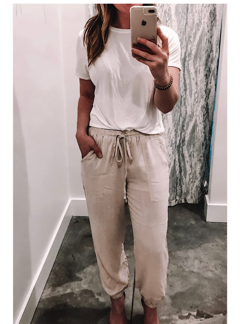 FELICITY TAUPE JOGGERS