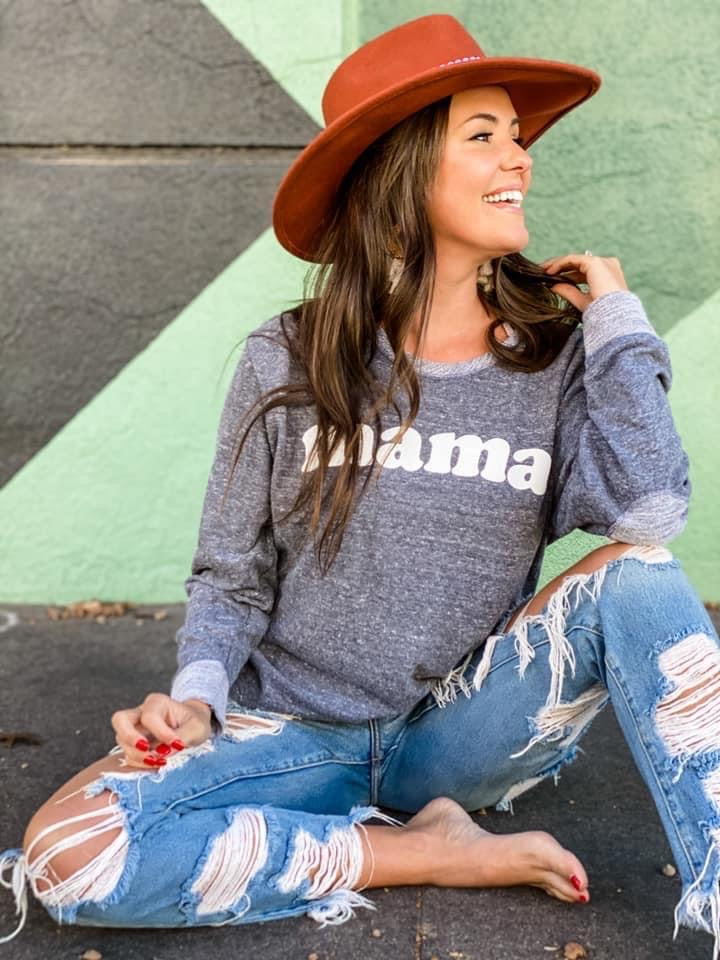 MAMA LONG SLEEVE PULLOVER TOP