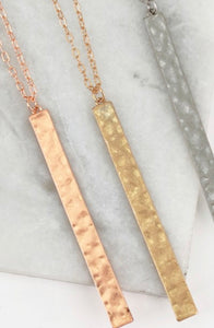 "HAMMERED 32"" NECKLACES"