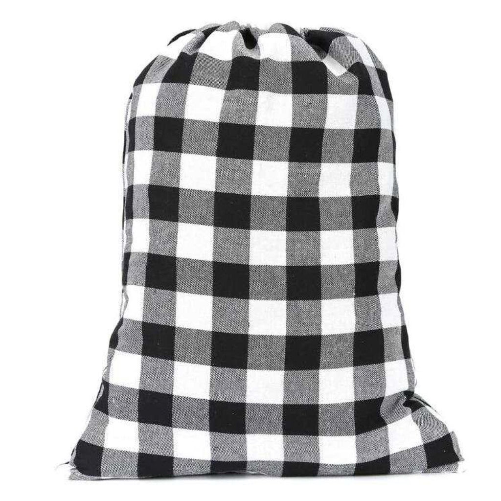 Santa Sacks - Buffalo Plaid White