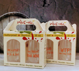 "WINE-OH ""Wine Sayings"" 4pc SET"