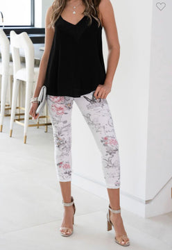 LUXE BUTTERFLY FLORAL PRINT JOGGER