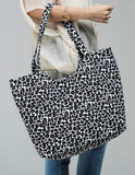 CHEETAH WEEKENDER CANVAS BAG (GREY)