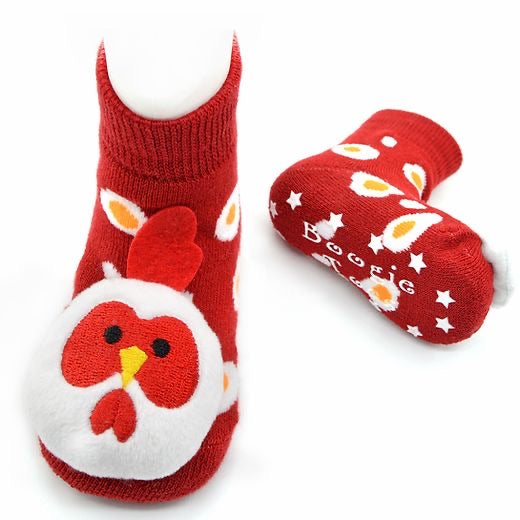 Baby Rooster Boogie Toes Rattle Socks