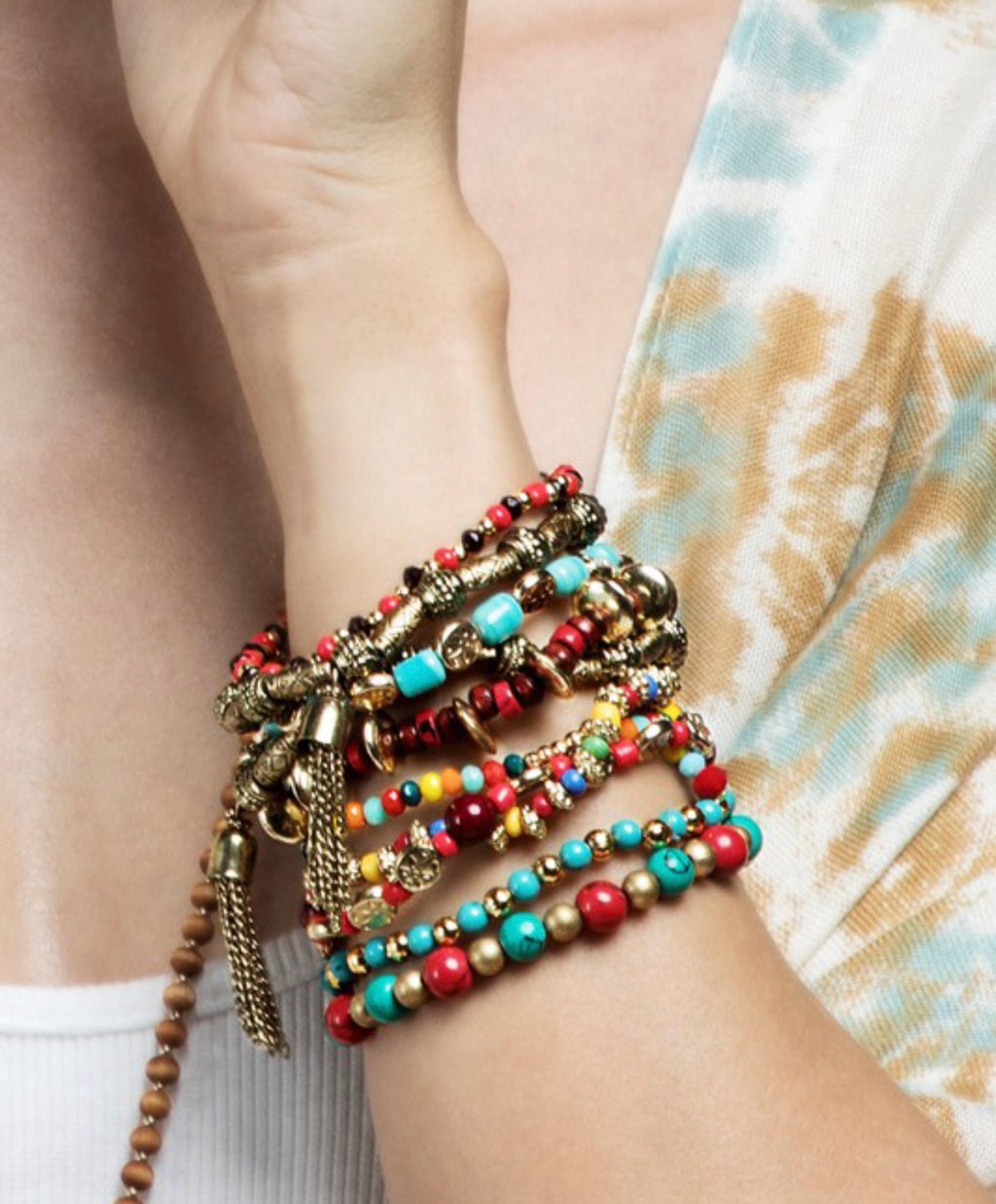 Boho Multi Color Stack Bracelet set