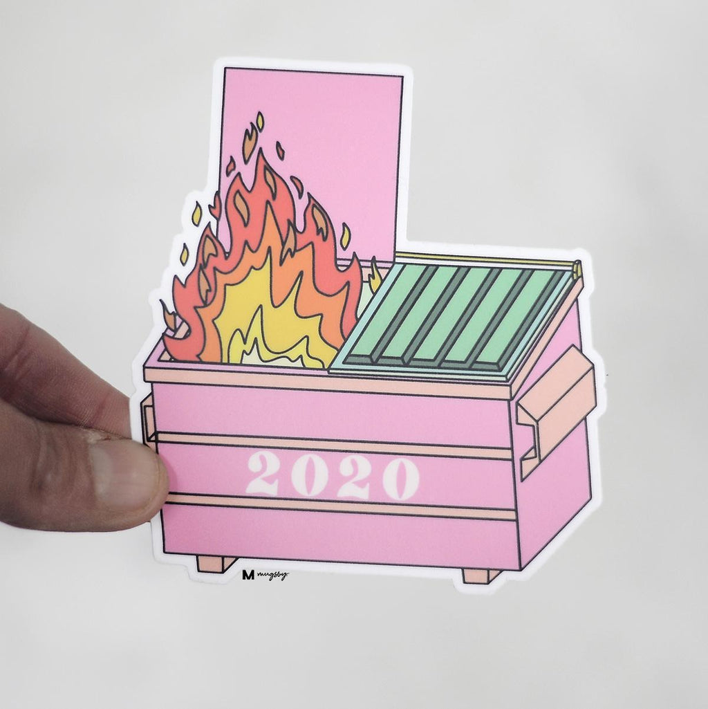 2020 DUMPSTER FIRE VINYL STICKER