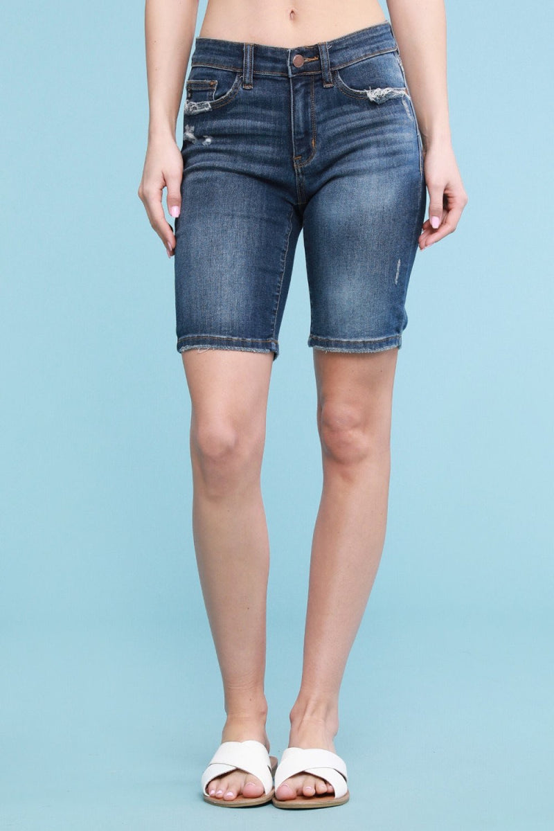 JUDY BLUE RELAXED BERMUDA SHORTS