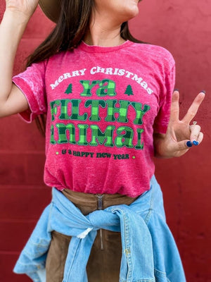 FILTHY ANIMAL CHRISTMAS BURNOUT TEE
