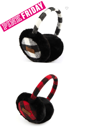 CC BRAND BUFFALO PLAID EAR MUFFS