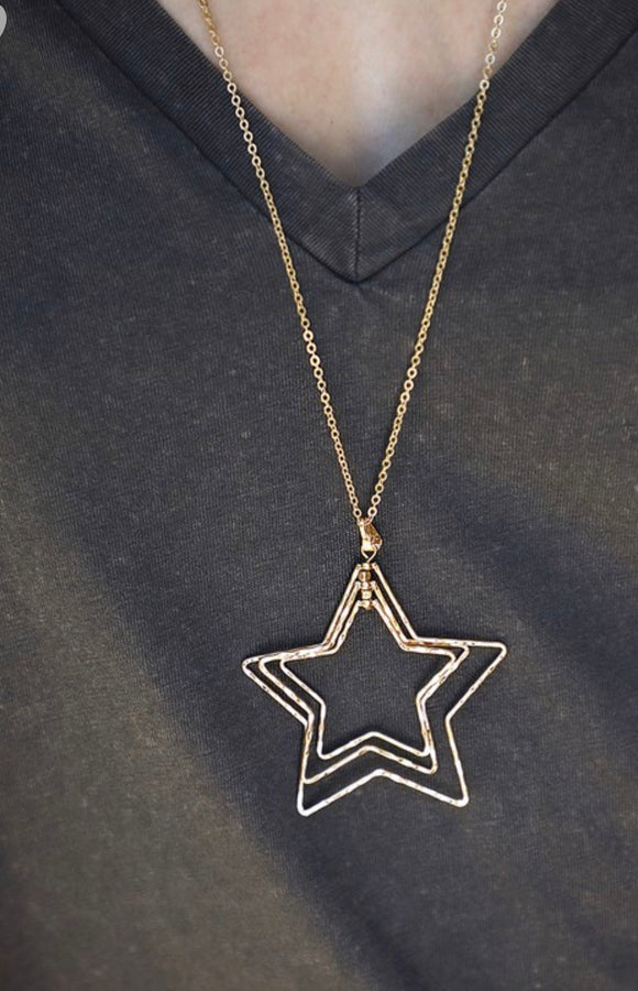 THANK YOUR LUCKY STARS NECKLACE & EARRING SET