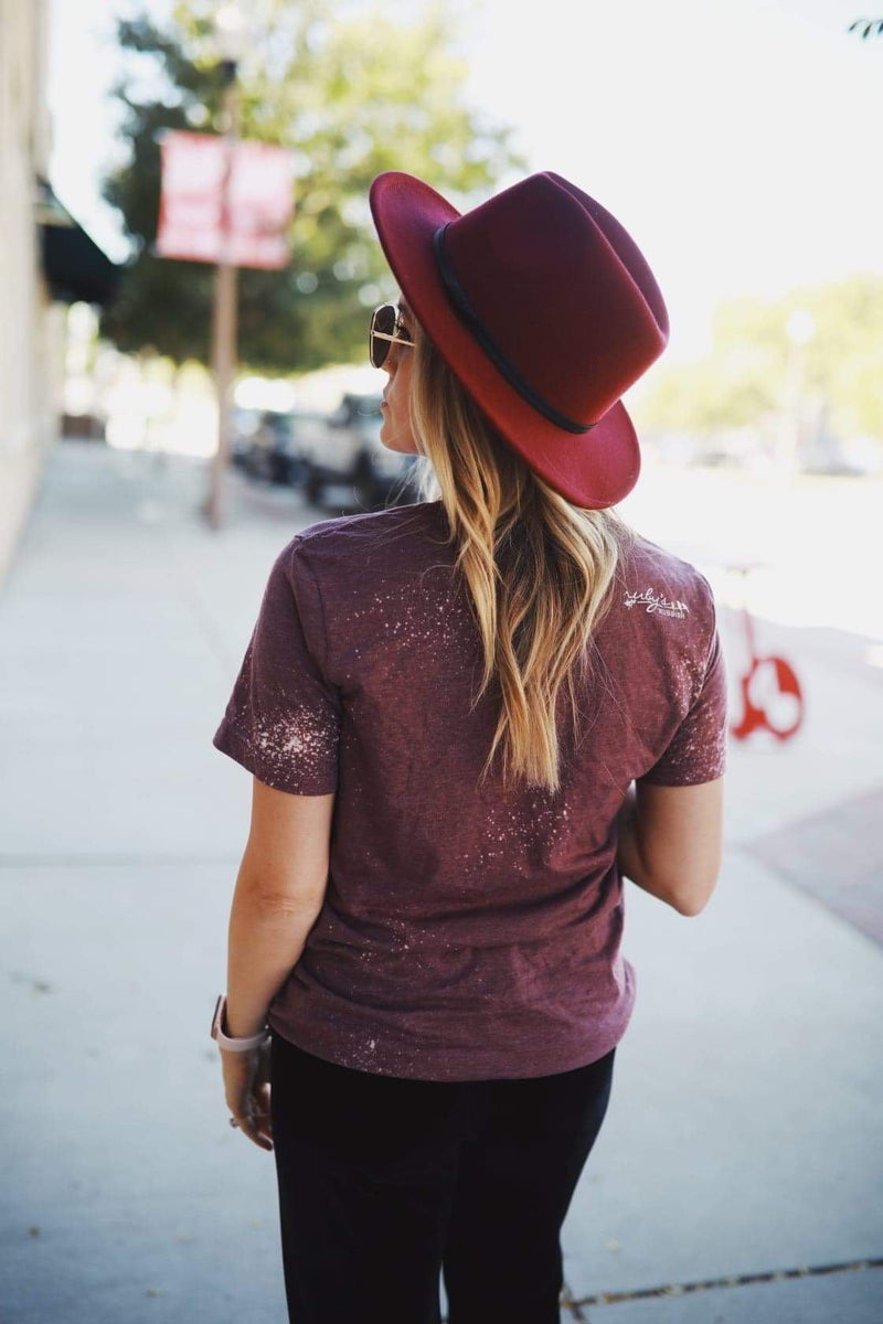 BURGANDY FEDORA HAT