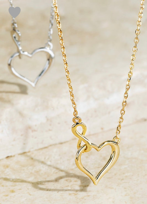 HEART AND INFINITI CHARM NECKLACE
