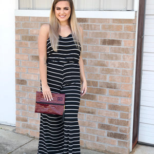 SLEEVELESS BLACK STRIPED JUMPER