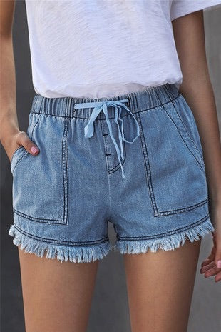 SPRING INTO ACTION DENIM SHORTS