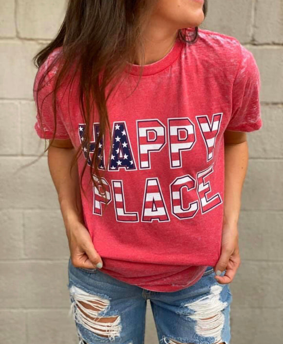 HAPPY PLACE BURNOUT TEE