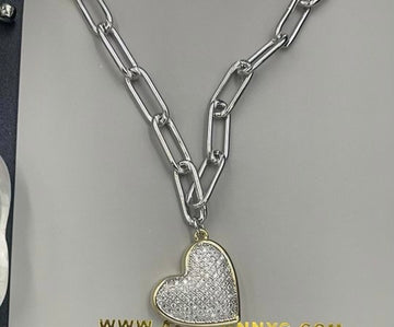 INSPIRED HEART CHAIN NECKLACE