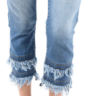 Ruffled around the edges jeans