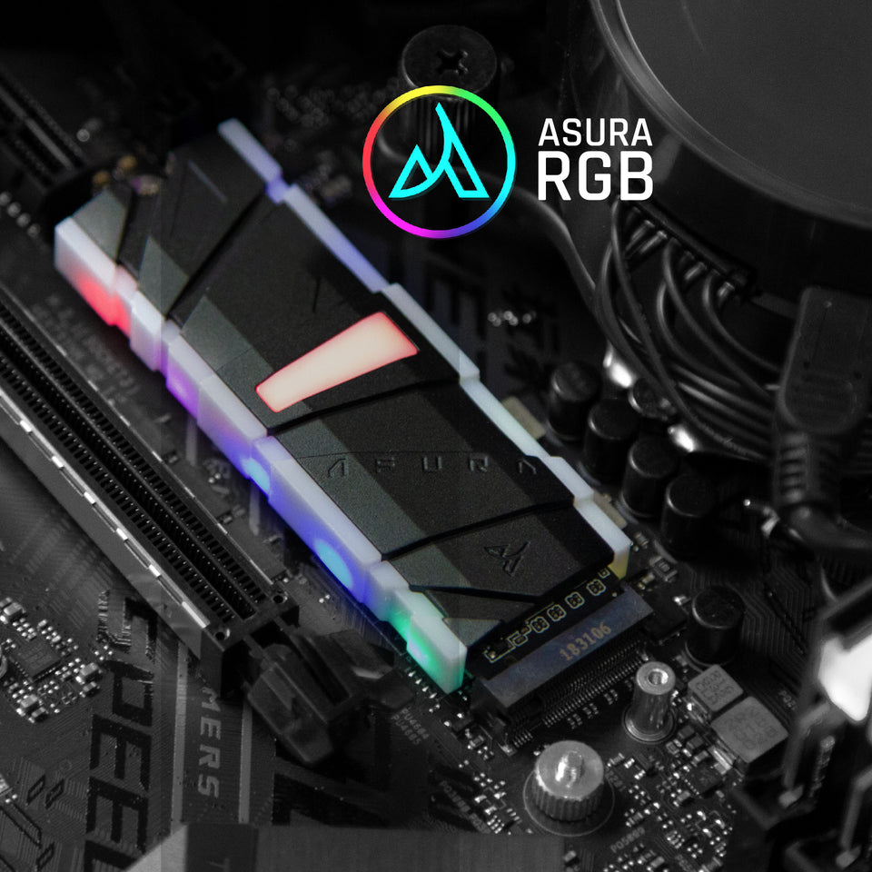 Genesis Xtreme PCIe M.2 2280 SSD With Multi-Color RGB and Modular Heatsinks