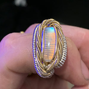 Custom Moonstone Ring In Silver/ Gold