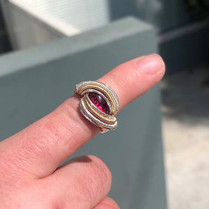 Custom Garnet Ring W/ Gold Accents ✨🔮✨