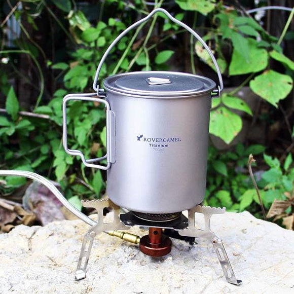 Ultralight Titanium Camping Pot