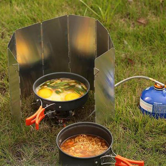 Ultralight Camping Stove Windshield