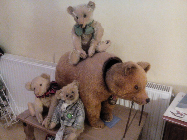 Helen Taylor. Antique Bear Collector and Restorer of Rocking Horses
