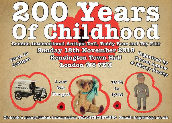 1 London International Antique Doll, Teddybear and Toy Fair (200 Years of Childhood). Fairs