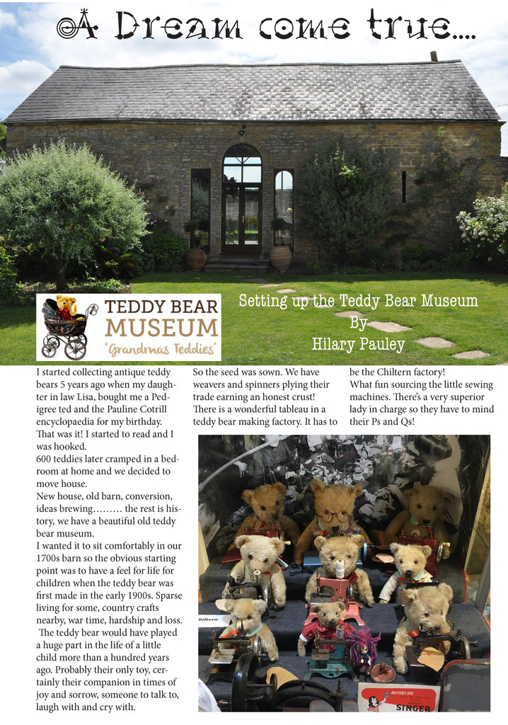 Setting up the Teddy Bear Museum - Hilary Pauley