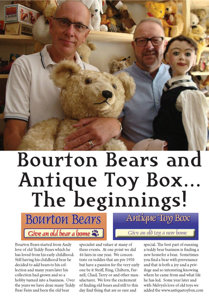 Bourton Bears and Antique Toy Box… The beginnings!