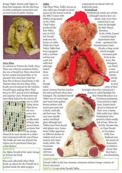 FAMOUS FARNELL & MERRYTHOUGHT BEARS - Kathy Martin