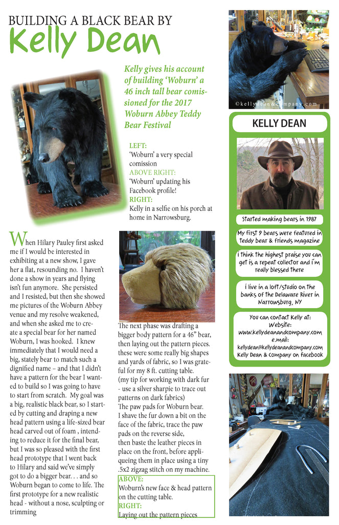 BUILDING A BLACK BEAR BY - Kelly Dean
