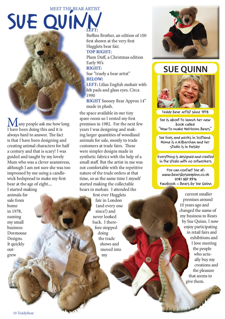 MEET THE BEAR ARTIST - SUE QUINN