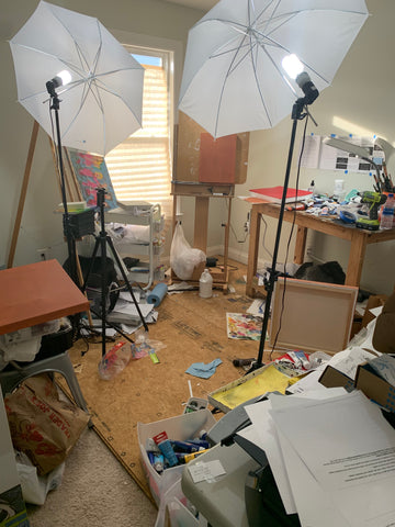 Art studio before renovation