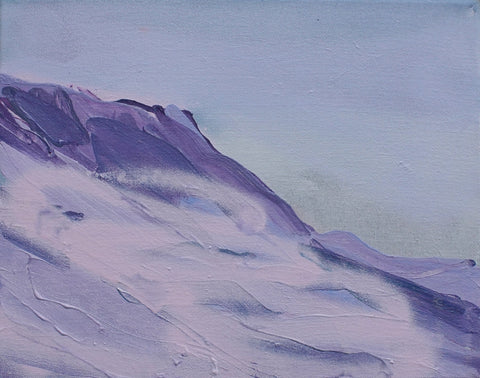 Lisa Ballard, Purple Snow, 2021, painting, 30 x 25 x 2 cm