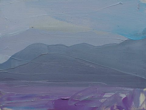 Lisa Ballard, Desert Mountain Haze, painting, 20 x 15 x 2 cm