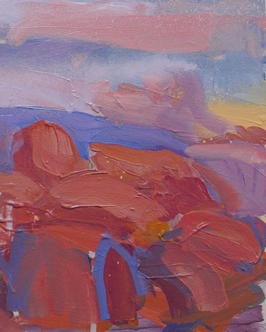 Lisa Ballard, Joshua Tree Rocks, painting, 20 x 25 x 2 cm