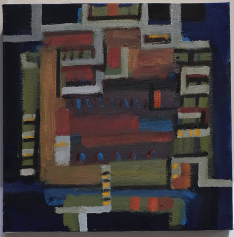 Ray Duncan, Untitled 3, Series 10, painting, 30 x 30 x 2 cm