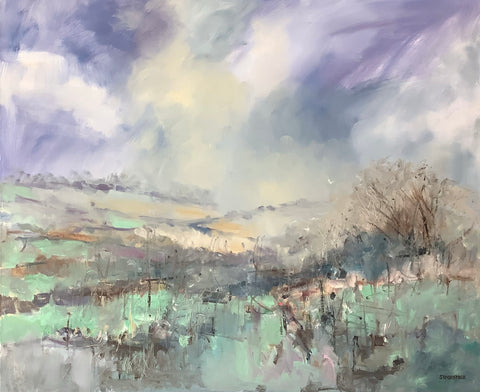 Sandra Maze, Craigantlet Hills, Co. Down, painting,76 x 92 x 3.5  cm