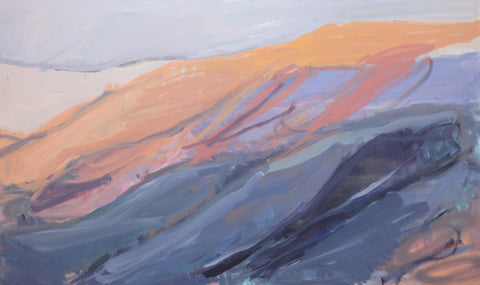 Lisa Ballard, Icelandic Sunset Mountains, painting, 153 x 92 x 3.5 cm