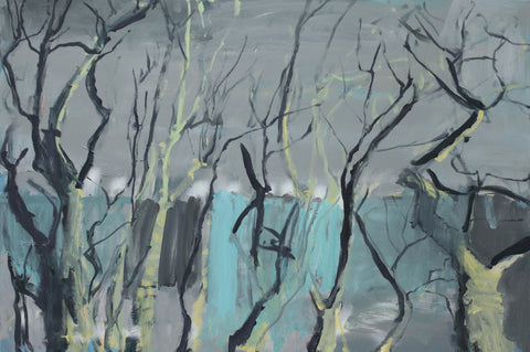 Lisa Ballard, Light on Trees, painting, 91 x 61 cm (107 x 77 cm framed)
