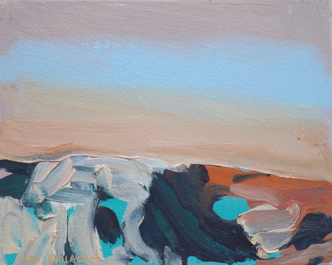 Lisa Ballard, Desert Rock Shadows, painting, 26 x 21 x 2 cm