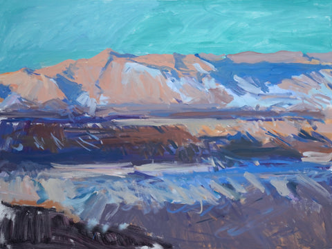 Lisa Ballard, Anza Borrego Mountains, painting, 122 x 92 x 3.5 cm
