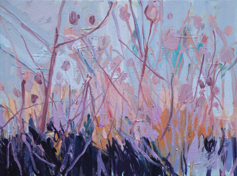 Lisa Ballard, Donegal Flowers, painting, 41 x 31 x 2 cm
