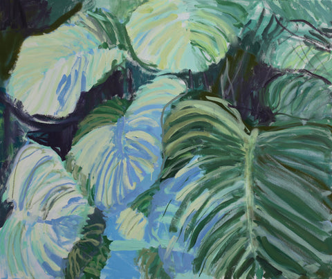 Lisa Ballard, Orbifolia Calatea and Shadows, painting, 120 x 100 x 3 cm
