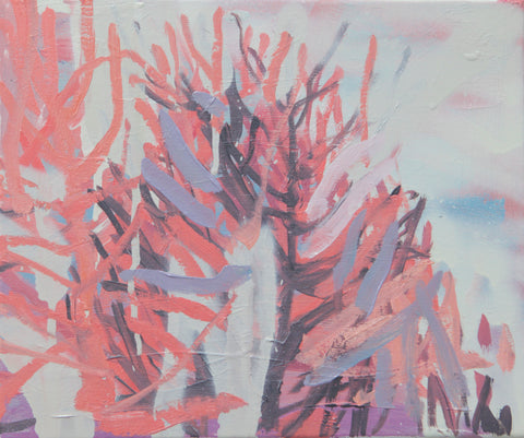 Lisa Ballard, Palm Springs Pink Shadows, painting, 26 x 31 x 1.5 cm