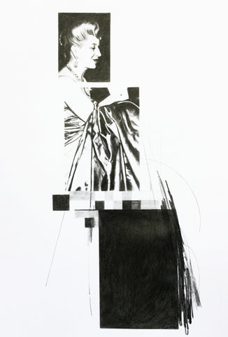 Craig Donald, Eva Supported by Her Gown, work on paper, 21 x 30 cm (33.5 x 42.5 x 2.5 cm framed)
