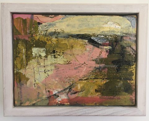 Janet Keith, To the Sea, painting, 20 x 15 x 3.5 (23.5 x 18.5 x 5 cm framed)