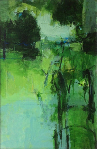 Janet Keith, Green Garden, painting, 51 x 76 cm (65 x 90 cm framed)