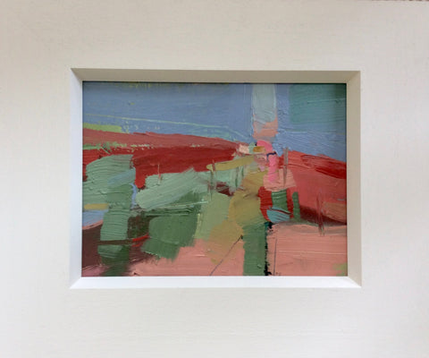 Janet Keith, Hotscape, painting, 25 x 19 cm (38 x 32 x 3 cm framed)